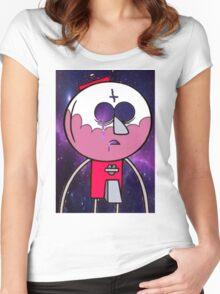 benson galaxy print Women's Fitted Scoop T-Shirt