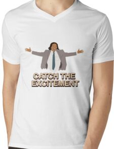 Catch The Excitement Mens V-Neck T-Shirt