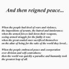And then reigned peace... by Paul Todd