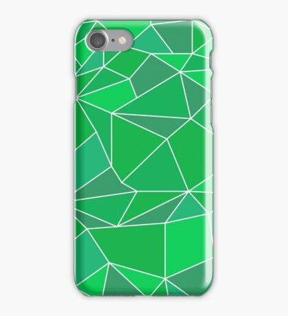 Triangular abstract green iPhone Case/Skin