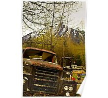 Old rusty truck Poster