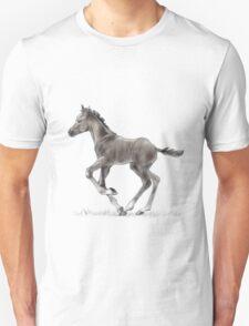 Drawing portrait of running foal Unisex T-Shirt