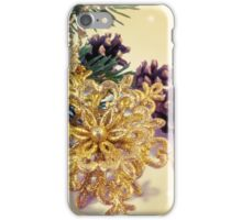 Elegant gold faux glitter Christmas decoration iPhone Case/Skin