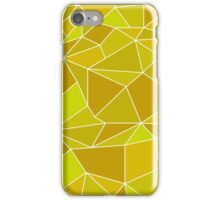 Triangular abstract yellow iPhone Case/Skin