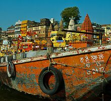 Varanasi India by raymona pooler