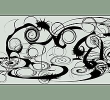 Abstract Frog Swirls And Twirls by mydeas