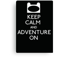 Keep Calm and Adventure On! Canvas Print
