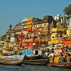 Ganges river India by raymona pooler