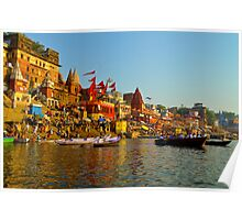 Boating on the Ganges Poster