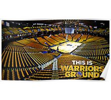 Golden State Warriors Stadium Poster