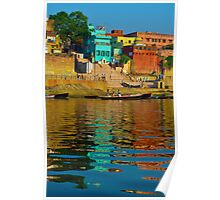Relections in the Ganges river Poster