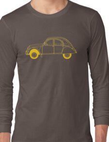 Yellow Citroën 2CV Long Sleeve T-Shirt