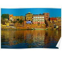 Reflections on the Ganges   Poster