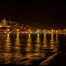 Ibiza town at night. by naranzaria