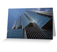 Silver Lines to the Sky - Downtown Toronto Skyscraper Greeting Card