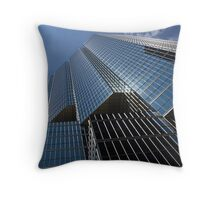 Silver Lines to the Sky - Downtown Toronto Skyscraper Throw Pillow