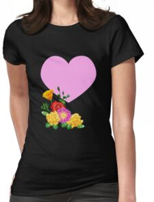 Heart & Flowers Womens Fitted T-Shirt