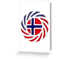 Norwegian American Multinational Patriot Flag Series 1.0 Greeting Card
