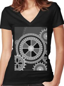 Charlie Chaplin's Modern Times Women's Fitted V-Neck T-Shirt
