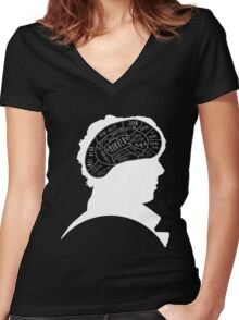 Mind Palace 2 Women's Fitted V-Neck T-Shirt