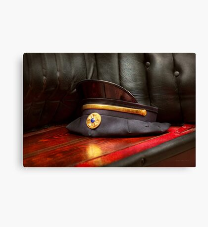 Firefighter - Hat - The ex chiefs hat Canvas Print
