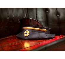 Firefighter - Hat - The ex chiefs hat Photographic Print