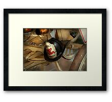 Firefighter - Somewhere to hang hat  Framed Print