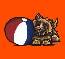 Cairn Terrier Having A Ball Kids Tee