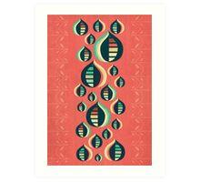50's floral pattern III Art Print
