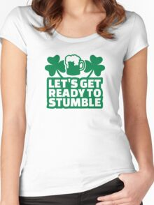 Let's get ready to stumble beer Women's Fitted Scoop T-Shirt