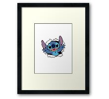 Happy Stitch Framed Print