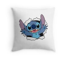 Happy Stitch Throw Pillow