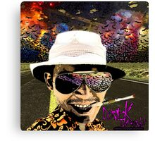 Fear and Loathing in Dark threads Canvas Print
