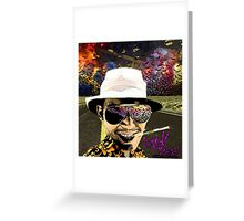 Fear and Loathing in Dark threads Greeting Card