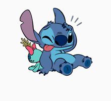 Cute Stitch and his toy Unisex T-Shirt