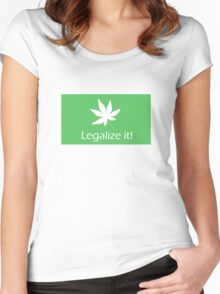 Legalize it! - Cannabis Women's Fitted Scoop T-Shirt