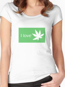 I love Cannabis Women's Fitted Scoop T-Shirt