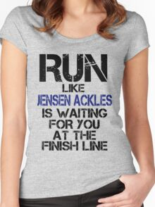 Run Like Jensen Ackles is Waiting Women's Fitted Scoop T-Shirt