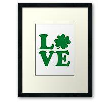 Irish shamrock love Framed Print