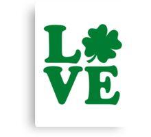 Irish shamrock love Canvas Print