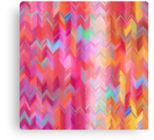Colorful painted chevron pattern Canvas Print
