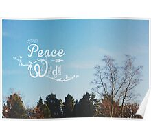 The Peace of Wild Things Poster