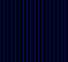 Navy Blue Black Candy Stripes by ColorPalette
