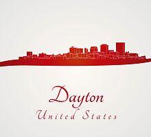 Dayton skyline in red by paulrommer