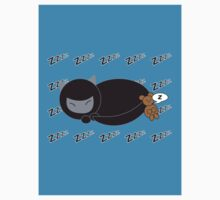 Ninja Kitty and Mouse Sleeping T-Shirt