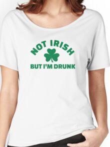 Not Irish but I'm drunk shamrock Women's Relaxed Fit T-Shirt