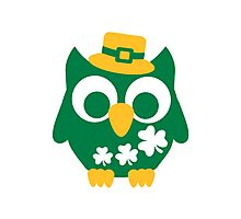 St. Patrick's day owl shamrock Photographic Print