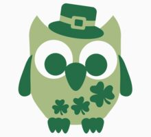 Cute irish shamrock owl One Piece - Short Sleeve