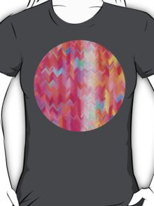 Colorful painted chevron pattern T-Shirt