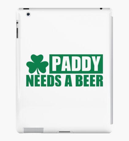 Paddy needs a beer shamrock iPad Case/Skin